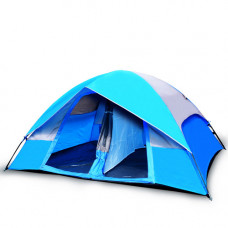 5 Person Camping Tent, Blue/Gray