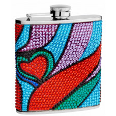 6 Oz. Hip Flask Holders with Heart Patterns