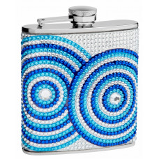 6 Oz. Hip Flask Holders with Circle Patterns