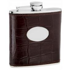 6 Oz. Hip Flask Holders with Eel Skin Patterns