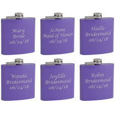 6 Oz. Hip Flask Holders for Bridesmaid