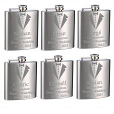 Custom Engraved Top Shelf Flasks for Weddings