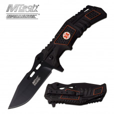 EMT Black Folding Knife