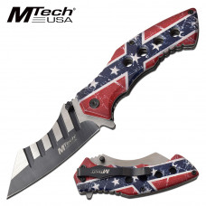 MTECH USA Rebel Flag Knife with Spring Assist