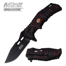 Black Firefighter Folding Knife