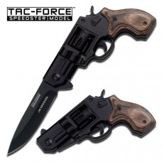 "TAC-FORCE "".38 Special"" Wood Revolver Gun Style"
