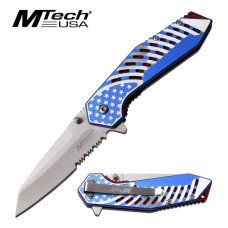 Spring Assisted Knife with Fine/Serrated Edge by Mtech USA