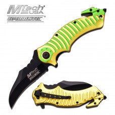 "MTech USA MT-A884YG RESCUE SPRING ASSISTED KNIFE 5"" CLOSED"
