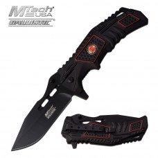 Black Firefighter Folding Knife