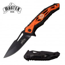 Spring Assisted Knife with ABS Handle for Fire Department with Maltese Cross  Emblem  by Master USA