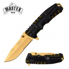 Master USA Tinite Plated, Spring Assisted Knife