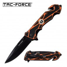 EMS Orange - Folding Pocket Knife with Spring Assist