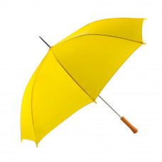 "Rain Umbrella - Yellow - 48"" Across - Rip-Resistant Polyester - Auto Open - Light Strong Metal Shaft and Ribs - Resin Handle"