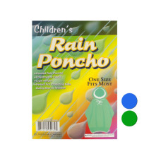 Children's Hooded Rain Poncho
