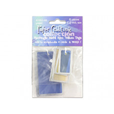 Pastel Rectangle Vellum Tags with Metal Rims