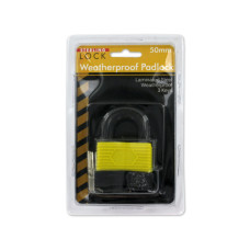 Laminated Weatherproof Padlock with Keys