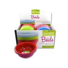 Plastic Stacking Bowls Countertop Display