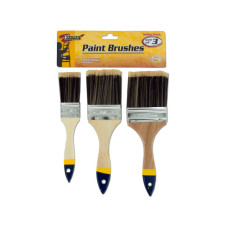 Paint Brush Set with Wood Handles