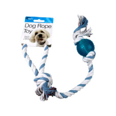 Dog Rope Toy with Plastic Ball