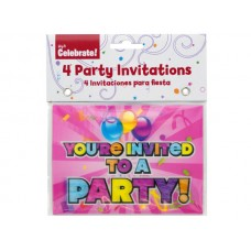 Holographic Girl Party Invitations