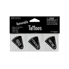 Removable Black Cheer Tattoos