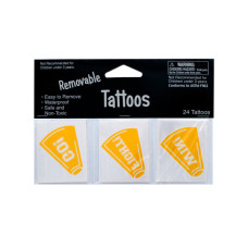 Removable Yellow Cheer Tattoos