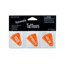 Removable Orange Cheer Tattoos