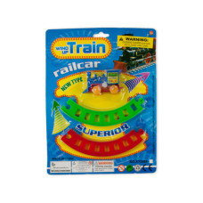 Wind-Up Toy Train with Track Set