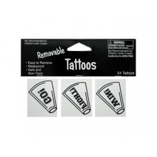 Removable White Cheer Tattoos