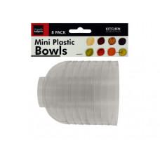 Clear Mini Condiment Bowls Set