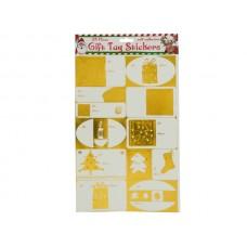 Metallic Christmas Gift Tag Stickers Set