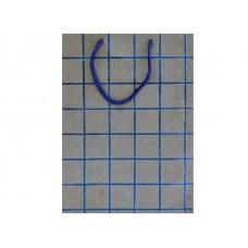 Blue Glitter Grid Gift Bag