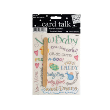 Baby Girl Rub-On Transfers