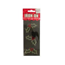 Holly Rhinestone Iron-On Transfer