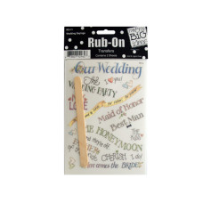 Wedding Sayings Rub-On Transfers