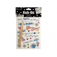 Girls Only Sayings Rub-On Transfers