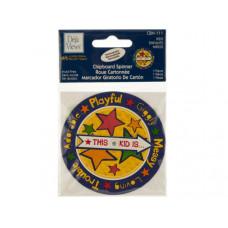 Kids Chipboard Spinner Sticker