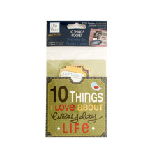 10 Things I Love About Everyday Life Journaling Pocket