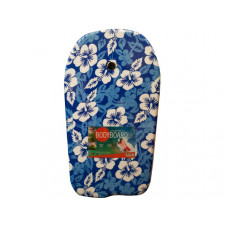 Blue Pattern Bodyboard with Leash