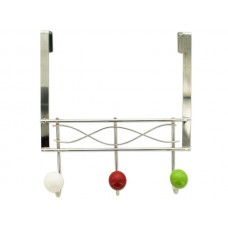 Over the Door Hook Rack with Ceramic Ball Accents