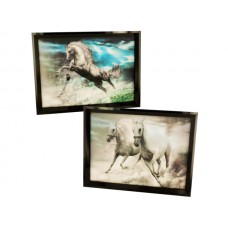 3D Holographic Horse Framed Wall Art