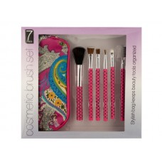 Cosmetic Brush Set with Carrying Case