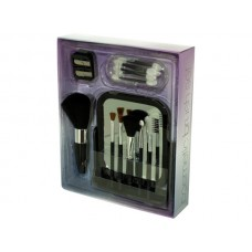 Cosmetic Brush Set with Vanity Mirror