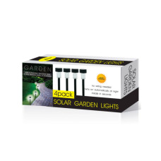 4-Piece Solar Powered Garden Lights Set