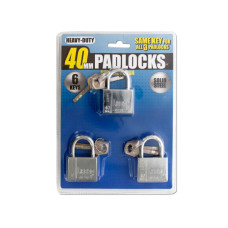 Chrome Finish Keyed Alike Steel Padlocks
