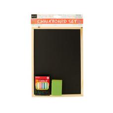 Wooden Chalkboard Set