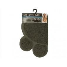 Easy Clean Paw Print Pet Bowl Mat
