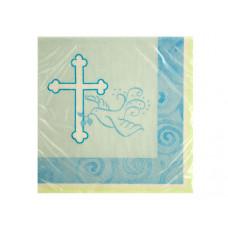 Blue Faithful Dove Beverage Napkins