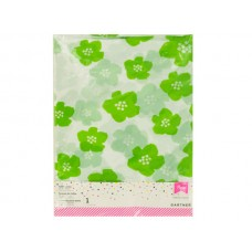 Green & White Floral Print Table Cover