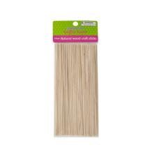 Skinny Natural Wood Craft Sticks
